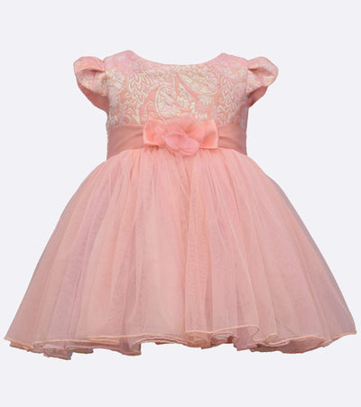 little girls party dress with metallic bodice and ballerina skirt