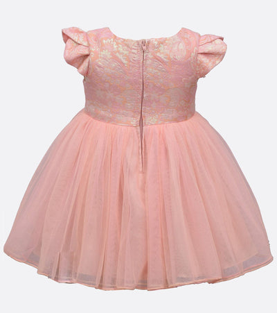baby girls party dress with metallic bodice and ballerina skirt