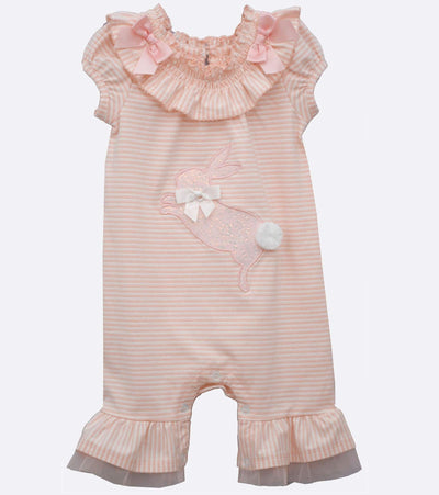 Easter onesie with sequin appliqued bunny