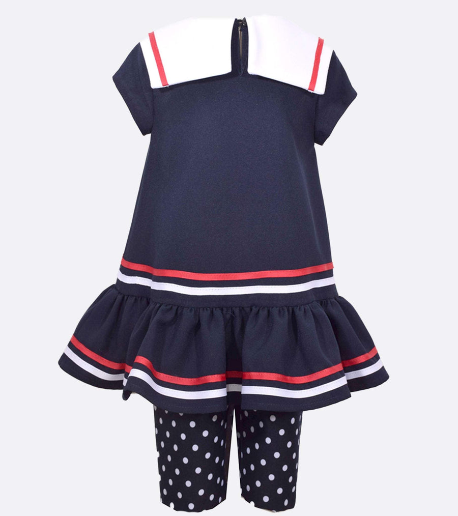 nautical outfit, girls legging set, navy outfit, nautical baby