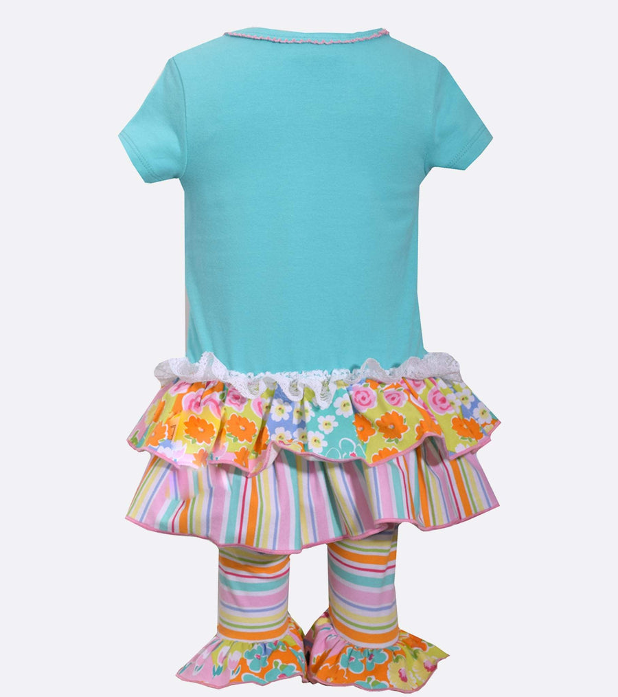 tea party outfit, little girl legging set, legging set for little girl