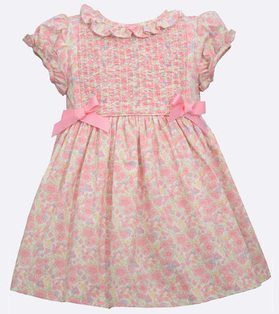 little girls easter dress with floral and bows