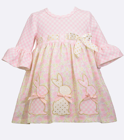 Easter Dress for Girls with Bunny Appliques