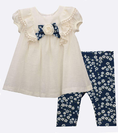 Sister Matching Outfits Pinafore Ruffle Set