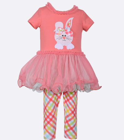 Bunny Applique Tutu Easter outfit for little girls