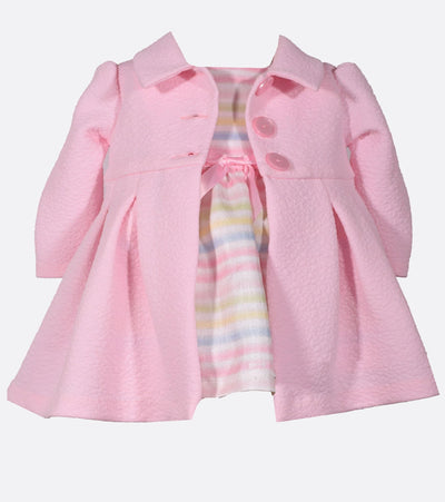 Pink Girls Easter Dress and Coat Set