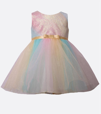 Rainbow tutu baby girls easter dress