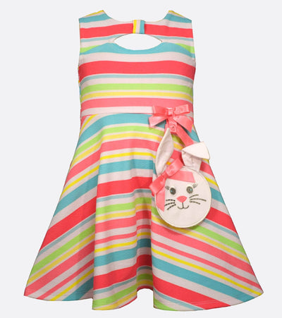 Toddler Easter Dress with matching Bunny Handbag