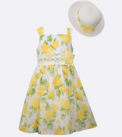 floral easter dress with matching hat