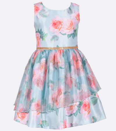 Floral shantung easter party dress