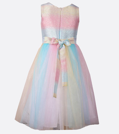 ball gown, rainbow, party dress, tween, sparkle, unicorn
