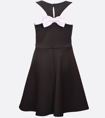 tween dress with bow back detail