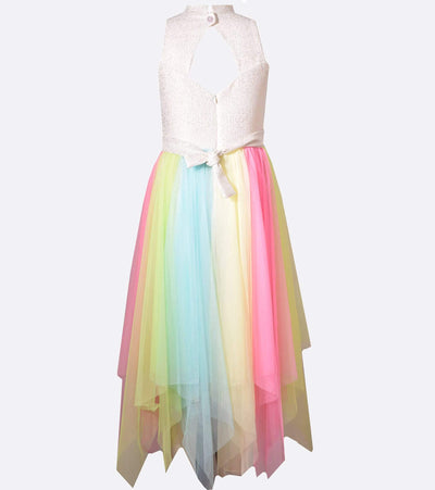Tween girls rainbow shaxi with glitter knit