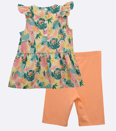 little girls tropical short set