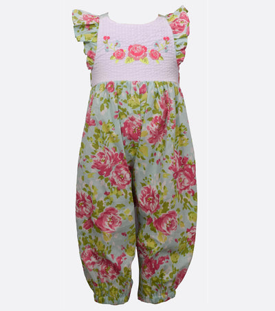 Abby Floral Coverall