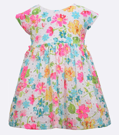 little girls floral neon lace
