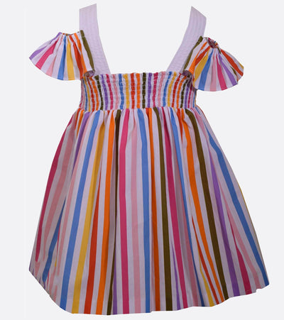 little girl sundress, sundress for girl, rainbow stripe