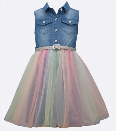 Alicia Chambray Tutu Dress