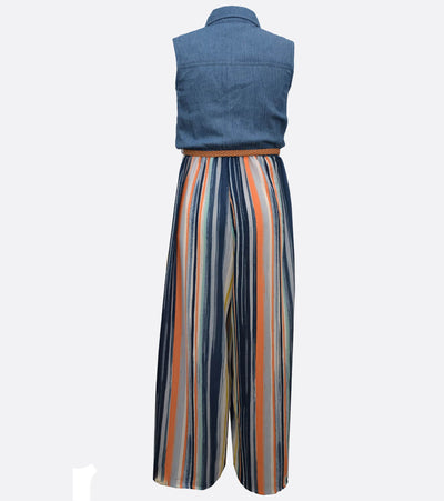 Juliette Denim Stripe Jumpsuit