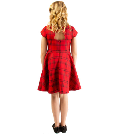 Reine Plaid Skater Dress