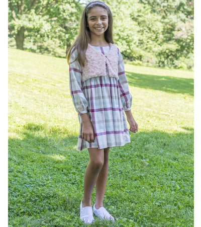 Paulina Plaid Dress