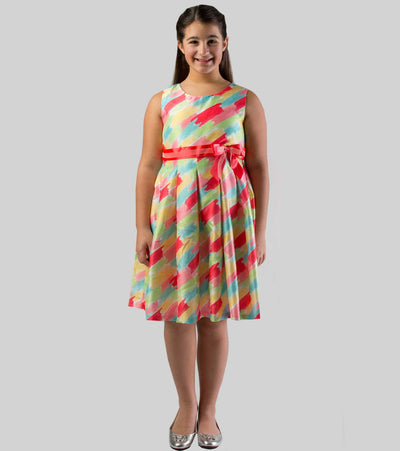 Rainbow Brushstroke Dress