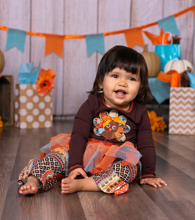 Thanksgiving Turkey Legging Set with Tutu