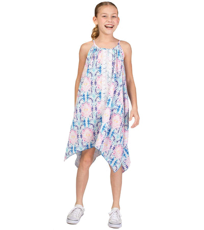 Tye dye sharkbite hem dress
