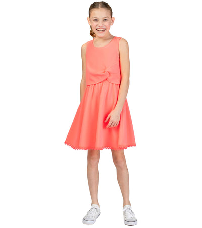 tween summer dress with lace hem