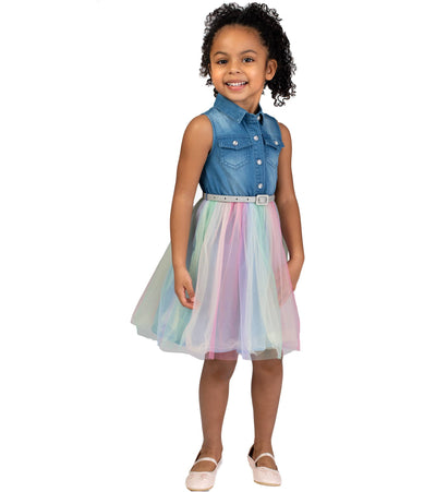 little girls rainbow tutu dress