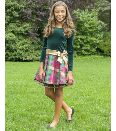 Erin Plaid Hipster Dress