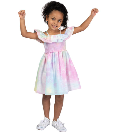 little girl tye dye sundress