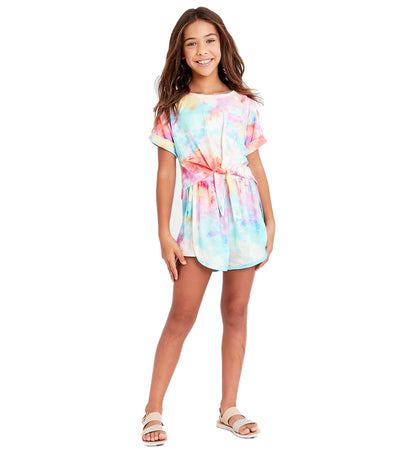 tween girls tie dye short set