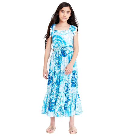 tween girls tie dye maxi set