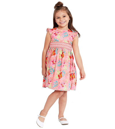 Hawaiian printed spring sundress for girls
