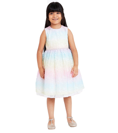 Angela Rainbow Lace Dress
