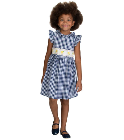 checkered seersucker dress, easter dress