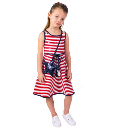girls americana dress, red white and blue dress, fourth of july,