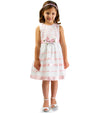 Baby girl easter dress with ribbons and organza