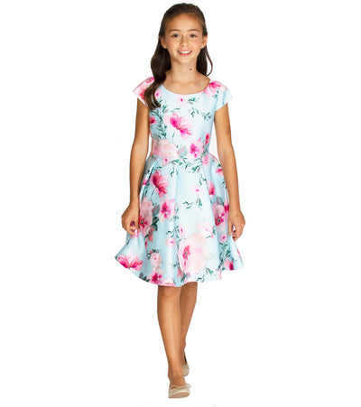 Tween and plus size girls floral skater dress
