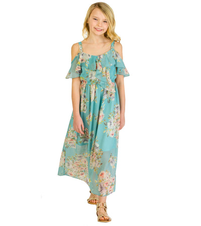 tween dress, floral dress, maxi, girls, summer dress