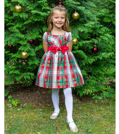 plaid dress red and green christmas dresses for girls girls christmas dresses - Girl Christmas Dresses