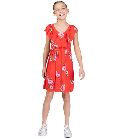 big girl floral sundress with ruffles