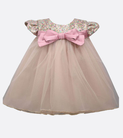 Sequin Bodice to Mesh Baby Girls Party Dress