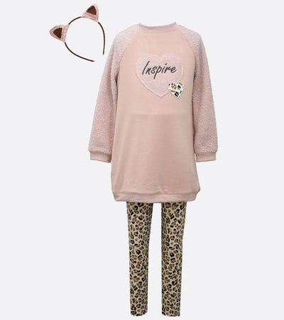 Inspire legging set with cheetah leggings