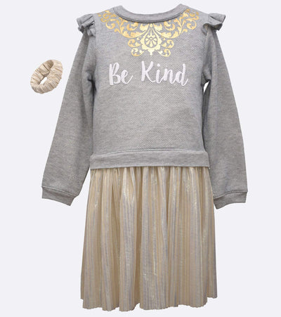 Little girls be kind sweater dress