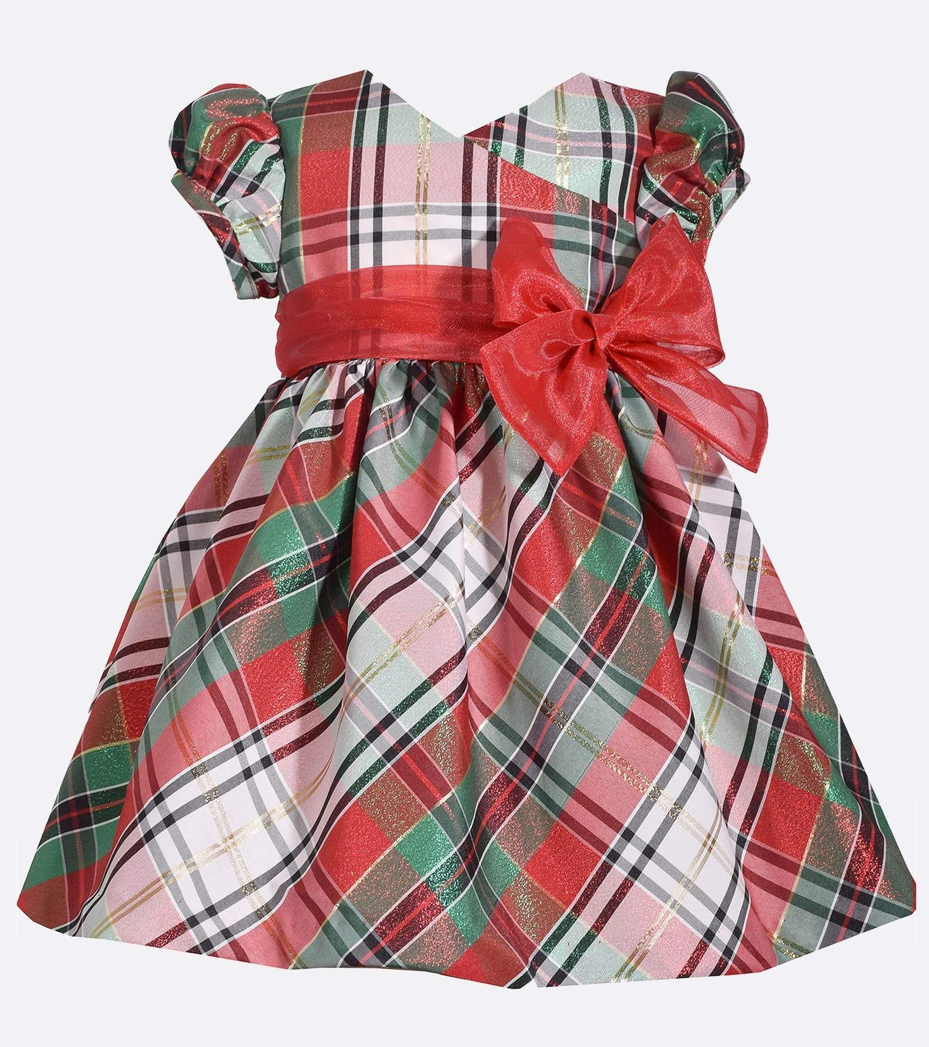68e2c127feaa plaid red and green, christmas dress for baby girl, little girls christmas  dress