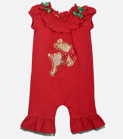 baby first christmas, christmas onesie, christmas outfit, reindeer,