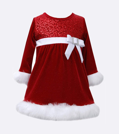 Baby girls, little girls, and big girls Santa Dress for Christmas. Plus size Christmas dress