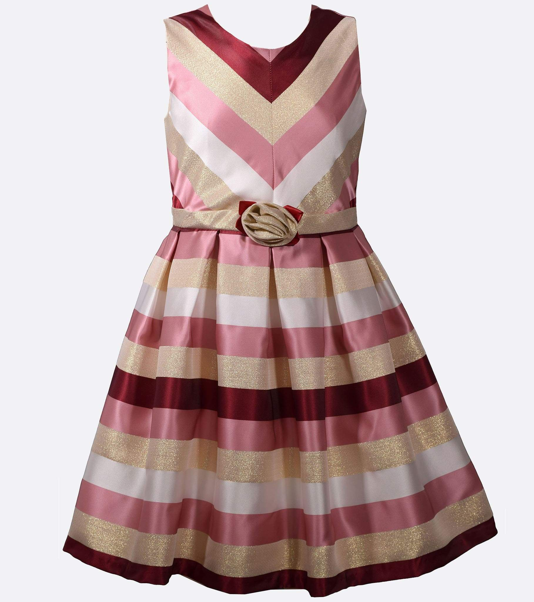42de55769 Pink and Berry Chevron Party Dress, Girls Plus Size Dresses, Plus Size  Girls Dresses